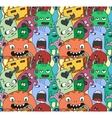 Funny monsters seamless pattern vector image