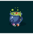 Pot of Green Potion and Eyes vector image