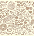 seamless pattern of traditional italian food vector image
