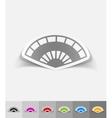 realistic design element folding fan vector image