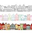 Houses Seamless Compositions vector image