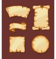 medieval retro Yellowish Blank Scrolls vector image