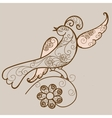 Bird ornament vector image vector image