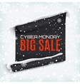 Cyber Monday sale curved paper banner on winter vector image vector image