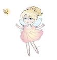 Cute fairy dancing girl little ballerina vector image