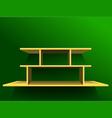 Shelf on green wall1 vector image vector image
