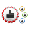Thumbs Up Symbol vector image vector image