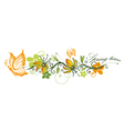 Spring time flowers vector image