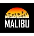 Malibu surf sport typography t-shirt graphics vector image