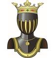 Medieval knight head in helmet vector image