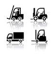 Set of transport icons - loader vector image