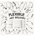 Flexible Arrow Shaped Art Brushes vector image