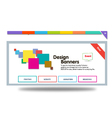 colour banner vector image