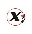 Crane hook towing letter x vector image