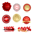 guarantee tags vector image