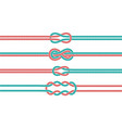 sailor knot and rope dividers and borders set vector image