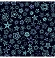 Stars Pattern from silver starry elements vector image