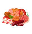 with meat products of vector image