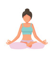 woman in lotus pose vector image