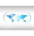 world blue vector image