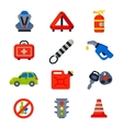 Auto transport motorist icons vector image