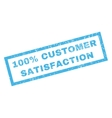 100 Percent Customer Satisfaction Rubber Stamp vector image