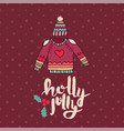 christmas sweater fashion cartoon holiday card vector image