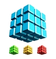 Cube 3d vector image