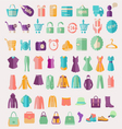 fashion clothing and Shopping related icon vector image