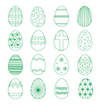 various outline Easter eggs design collection vector image