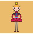 Color Princess vector image