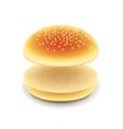 Empty hamburger isolated on white vector image