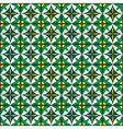 seamless pattern green vector image vector image