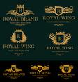 Heraldic Royal Crest Logos vector image
