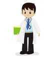 Doctor with stethoscope vector image