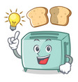 Have an idea toaster character cartoon style vector image