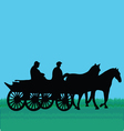 Horse car with people vector image