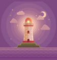 lighthouse on the coast of sea vector image