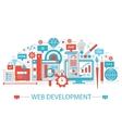 Modern Flat thin Line design Web development vector image