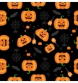 Seamless Halloween Pumpkin Pattern vector image