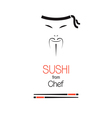 Sushi chef vector image