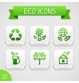 Collection of apps icons with eco elements Set 2 vector image vector image