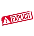 Explicit rubber stamp vector image