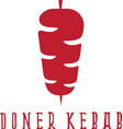 simple flat of doner kebab vector image