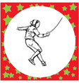 One fencing player with sword fighting vector image