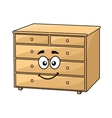 Cartoon wooden chest of drawers vector image vector image