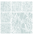 Big set of lace fabric seamless patterns vector image