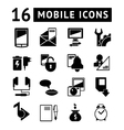 Set of mobile icons vector image