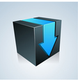 Cube With Arrow vector image