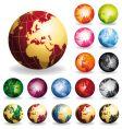 Golden globes vector image